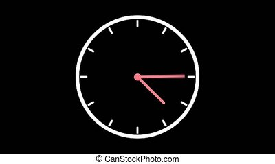Stopwatch flat animated icon design moving arrows on black ...