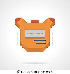 Stopwatch flat color design vector icon