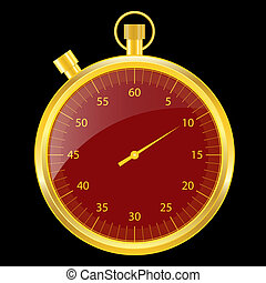 Stopwatch gold and red