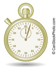 stopwatch gold - stopwatch in gold finish, analog