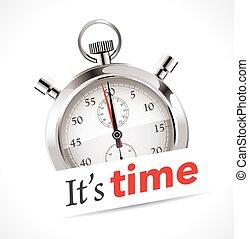 stopwatch, het is, -, tijd