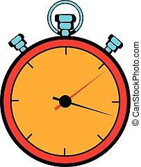 Stopwatch icon cartoon