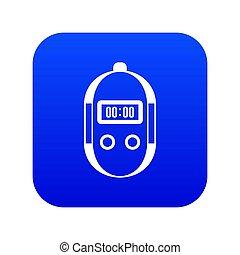 Stopwatch icon digital blue