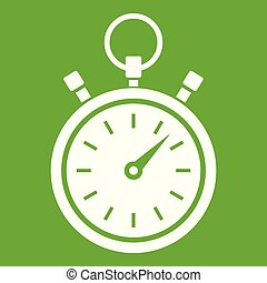 Stopwatch icon green
