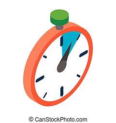 Stopwatch icon, isometric 3d style