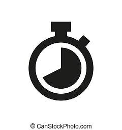 Stopwatch icon on white background.