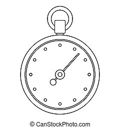 Stopwatch icon, outline style.