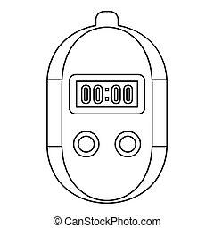Stopwatch icon, outline style