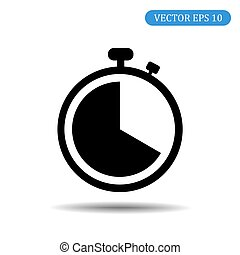 Stopwatch icon. Vector illustration eps 10