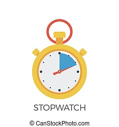 Stopwatch Icon Vector.