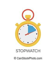 Stopwatch Icon Vector.