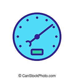 stopwatch icon vector outline illustration