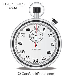 Stopwatch - Image of a stopwatch isolated on a white...