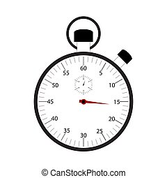 Stopwatch isolated on white background vector
