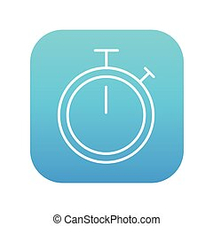 Stopwatch line icon.