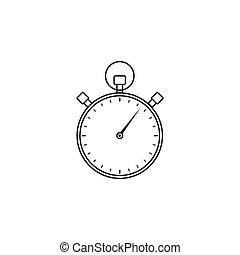 stopwatch line icon, timer for apps,