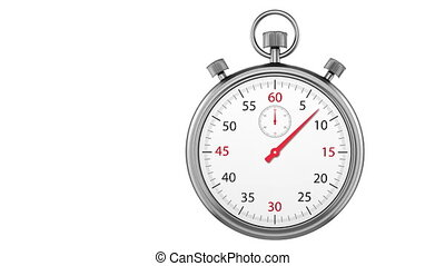 Stopwatch Loop Realtime. Realistic stopwatch animation in...