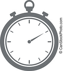 Stopwatch - minimalistic illustration of a stopwatch, eps10...