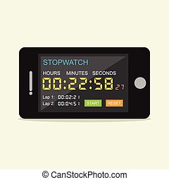 Stopwatch mobile application.