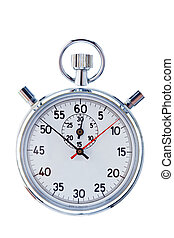 Stopwatch on a white background - A stopwatch against a ...