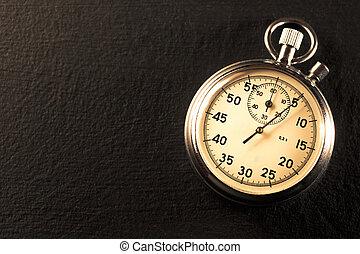 Stopwatch on black