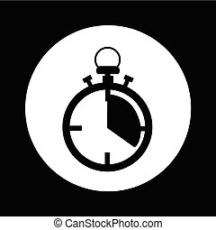 stopwatch, ontwerp, illustratie, pictogram