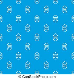 Stopwatch pattern seamless blue