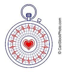 Stopwatch pulse icon