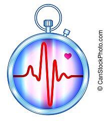 Stopwatch pulse monitor