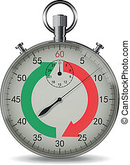 Stopwatch - Realistic vector stopwatch with light shadows...