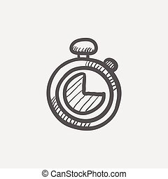 Stopwatch sketch icon