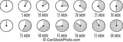 Stopwatch, sport clock timer set