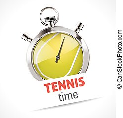 Stopwatch - Sport Tennis competition concept