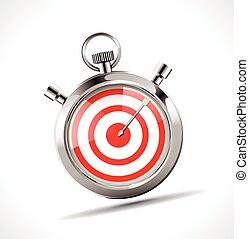 Stopwatch - target concept