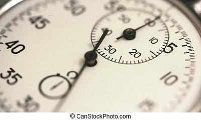 stopwatch, tellingen, timelapse, -, tijd
