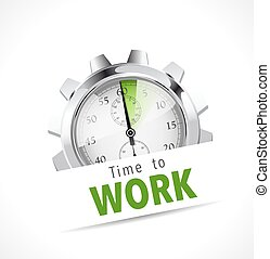 Stopwatch - Time to work - job