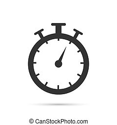 Stopwatch timer icon vector illustration on a white background