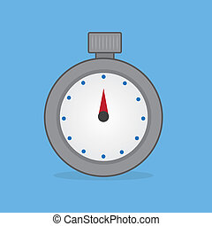 Stopwatch Timer - Stopwatch timer with blue background