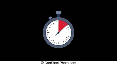 Stopwatch video animation.