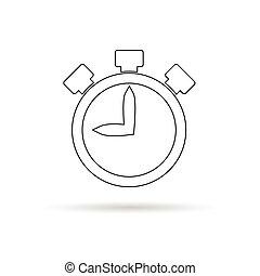stopwatch white illustration