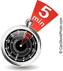 Stopwatch with bookmark vector illustration in eps 10