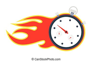 Stopwatch with fire frame