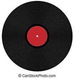 stor, fonograf tecknar uppe