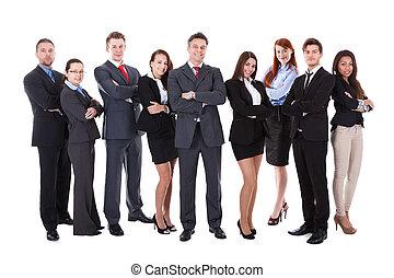 stor grupp, affärsfolk