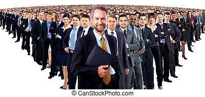 stor grupp, av, businesspeople