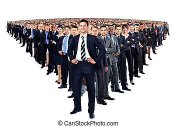 stor grupp, businesspeople