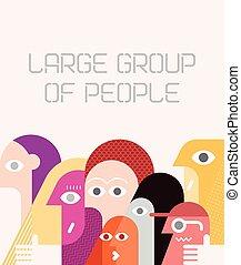 stor grupp, folk