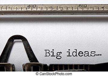 stor, idéer