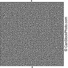 stor, labyrint