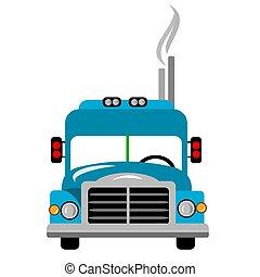 stor lastbil, clipart, rigg